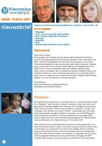 Uitgave van de Vincentiusvereniging Nederland jaargang 2 januari 2014 #3
