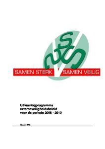 Uitvoeringprogramma externeveiligheidsbeleid voor de periode