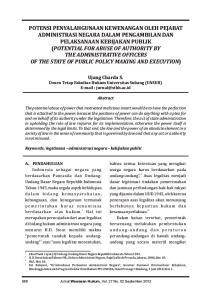 Ujang Charda S. Dosen Tetap Fakultas Hukum Universitas Subang (UNSUB)   Abstract