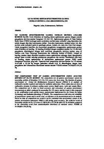 UJI BANDING SISTEM SPEKTROMETER GAMMA DENGAN METODA ANALISIS SUMBER Eu-152. Nugraha Luhur, Kadarusmanto, Subiharto