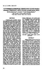 UJI TOKSISITAS EKSTRAK LEMPUYANG GAJAH (Zingiber zerumbet) TERHADAP LARVA UDANG (Artemia salina Leach.)
