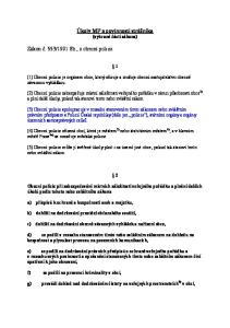 Úkoly MP a povinnosti strážníka (vybrané části zákona)