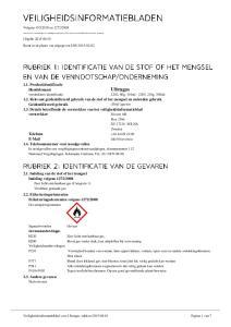 Ultragas Relevant geïdentificeerd gebruik van de stof of het mengsel en ontraden gebruik Geïdentificeerd gebruik