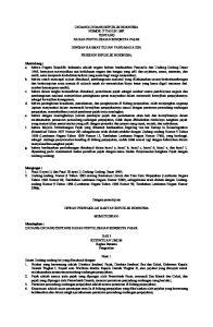 UNDANG-UNDANG REPUBLIK INDONESIA NOMOR 17 TAHUN 1997 TENTANG BADAN PENYELESAIAN SENGKETA PAJAK DENGAN RAHMAT TUHAN YANG MAHA ESA