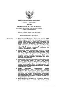 UNDANG-UNDANG REPUBLIK INDONESIA NOMOR 7 TAHUN 2010 TENTANG