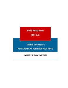 Unit Pelajaran QU-2.2