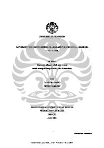 UNIVERSITAS INDONESIA IMPLEMENTASI GEOPOLITIK RUSIA DALAM PERANG RUSIA - GEORGIA TAHUN 2008