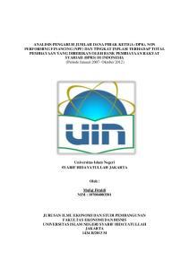 Universitas Islam Negeri SYARIF HIDAYATULLAH JAKARTA. Oleh : Mufqi Firaldi NIM :