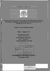 UNIVERSITAS NEGERI PADANG November, 2013