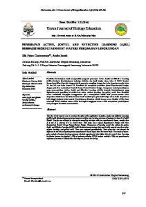 Unnes Journal of Biology Education