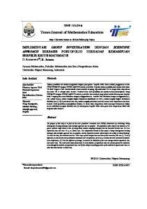 Unnes Journal of Mathematics Education