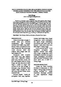 UPAYA MENINGKATKAN HASIL BELAJAR SISWA DENGAN MODEL PEMBELAJARAN KOOPERATIVE TIPE JIGSAW PADA MATERI SUHU DI KELAS VII-6 SMP NEGERI 1 TEBING TINGGI