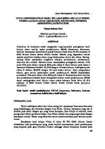 UPAYA MENINGKATKAN HASIL BELAJAR SISWA MELALUI MODEL PEMBELAJARAN ARIAS (ASSURANCE, RELEVANCE, INTEREST, ASSESSMENT, SATISFACTION