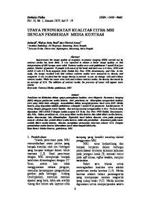 UPAYA PENINGKATAN KUALITAS CITRA MRI DENGAN PEMBERIAN MEDIA KONTRAS