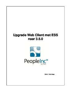 Upgrade Web Client met ESS naar 3.5.0