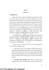 UPT Perpustakaan ISI Yogyakarta BAB V PENUTUP A. KESIMPULAN