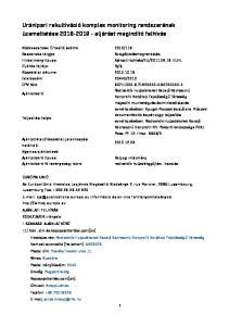 Uránipari rekultiváció komplex monitoring rendszerének üzemeltetése eljárást megindító felhívás