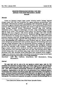 URGENSI PERUBAHAN KELIMA UUD 1945 : MENUJU PARLEMEN BIKAMERAL MURNI Ahmadi 1