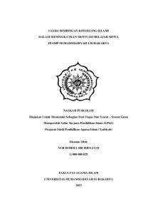 USAHA BIMBINGAN KONSELING ISLAMI DALAM MENINGKATKAN MOTIVASI BELAJAR SISWA DI SMP MUHAMMADIYAH 4 SURAKARTA
