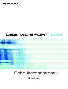 USB MIDISPORT UNO. Gebruikershandboek. Nederlands