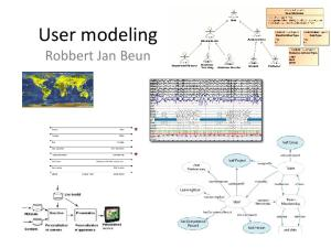 User modeling Robbert Jan Beun