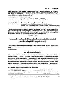 usnesení o nařízení elektronického dražebního jednání (dražební vyhláška opakovaná)