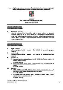 USNESENÍ z 32. schůze Rady Královéhradeckého kraje, konané dne