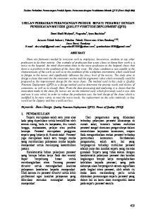USULAN PERBAIKAN PERANCANGAN PRODUK SEPATU PERAWAT DENGAN PENDEKATAN METODE QUALITY FUNCTION DEPLOYMENT (QFD)