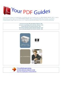 Uw gebruiksaanwijzing. HP BUSINESS INKJET 2300