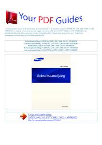 Uw gebruiksaanwijzing. SAMSUNG GALAXY CORE 2 G355 ANDROID
