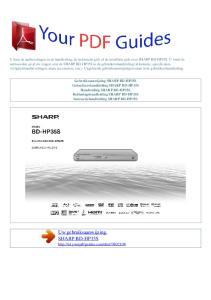 Uw gebruiksaanwijzing. SHARP BD-HP35S