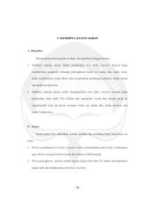 V. KESIMPULAN DAN SARAN. 1. Subtitusi tepung sukun dalam pembuatan non flaky crackers bayam hijau