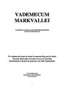 VADEMECUM MARKVALLEI