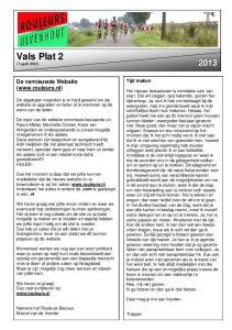 Vals Plat 2 (7 april 2013) 2013