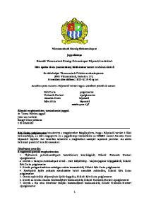 Vámosszabadi Község Önkormányzat. Jegyzőkönyv. Készült: Vámosszabadi Községi Önkormányzat Képviselő-tesületének