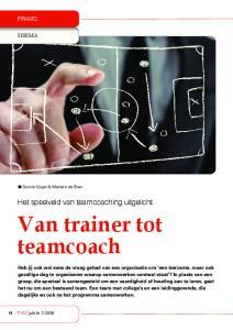 Van trainer tot teamcoach