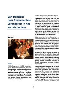 Van transities naar fundamentele verandering in het sociale domein