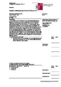 Vaststellen kwaliteitsrapportage Hulp bij het Huishouden 2013