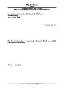 Věc: Právní stanovisko zodpovězení položených dotazů souvisejících s bytovým spoluvlastnictvím