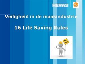 Veiligheid in de maakindustrie. 16 Life Saving Rules