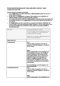 Verantwoordingsdocument voor gebruikte normen: staar