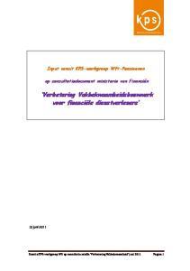 Verbetering Vakbekwaamheidsbouwwerk voor financiële dienstverleners
