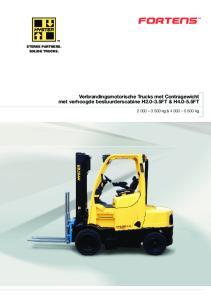 Verbrandingsmotorische Trucks met Contragewicht met verhoogde bestuurderscabine H FT & H FT