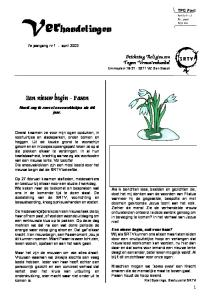 Verhandelingen. Een nieuw begin - Pasen. Stichting Religieuzen Tegen Vrouwenhandel Emmaplein VZ Den Bosch. 7e jaargang nr 1 - april 2003