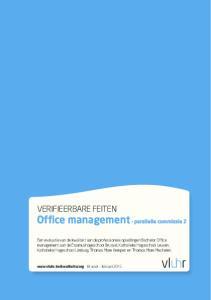 VERIFIEERBARE FEITEN Office management - parallelle commissie 2