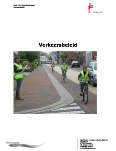 Verkeersbeleid. SWP Wereldoriëntatie Verkeersbeleid