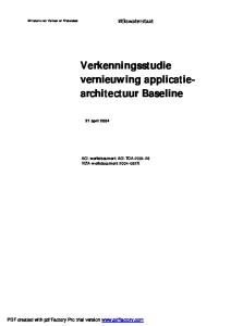 Verkenningsstudie vernieuwing applicatiearchitectuur