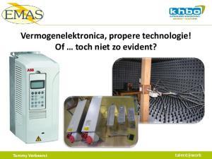 Vermogenelektronica, propere technologie! Of toch niet zo evident?