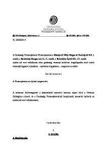 VERSENYTANÁCS Budapest, Alkotmány u Fax:
