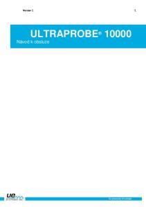 Version 1 1. ULTRAPROBE Návod k obsluze